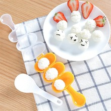 Plastic mini sushi bazooka sushi maker making rice ball mold mould kitchen seaweed cutter tools with spoon