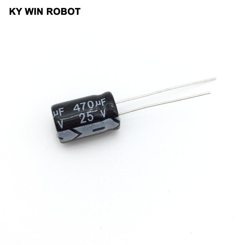 Pengiriman gratis 50 pcs 470 uF 25 V frekuensi tinggi Radial Electrolytic kapasitor, 8 * 12 mm IC