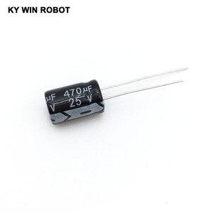 Image 1 - Pengiriman gratis 50 pcs 470 uF 25 V frekuensi tinggi Radial Electrolytic kapasitor, 8 * 12 mm IC