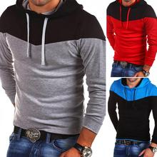 ZOGAA  New Black multi buttons hoodie men's self-cultivation long sleeved shirt