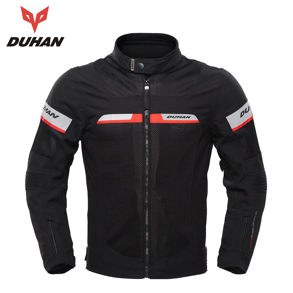 Духан Мото-куртки Для мужчин лето мото куртки Водонепроницаемый дышащий мужской Гонки куртка Мотокросс Костюмы Мото-куртки