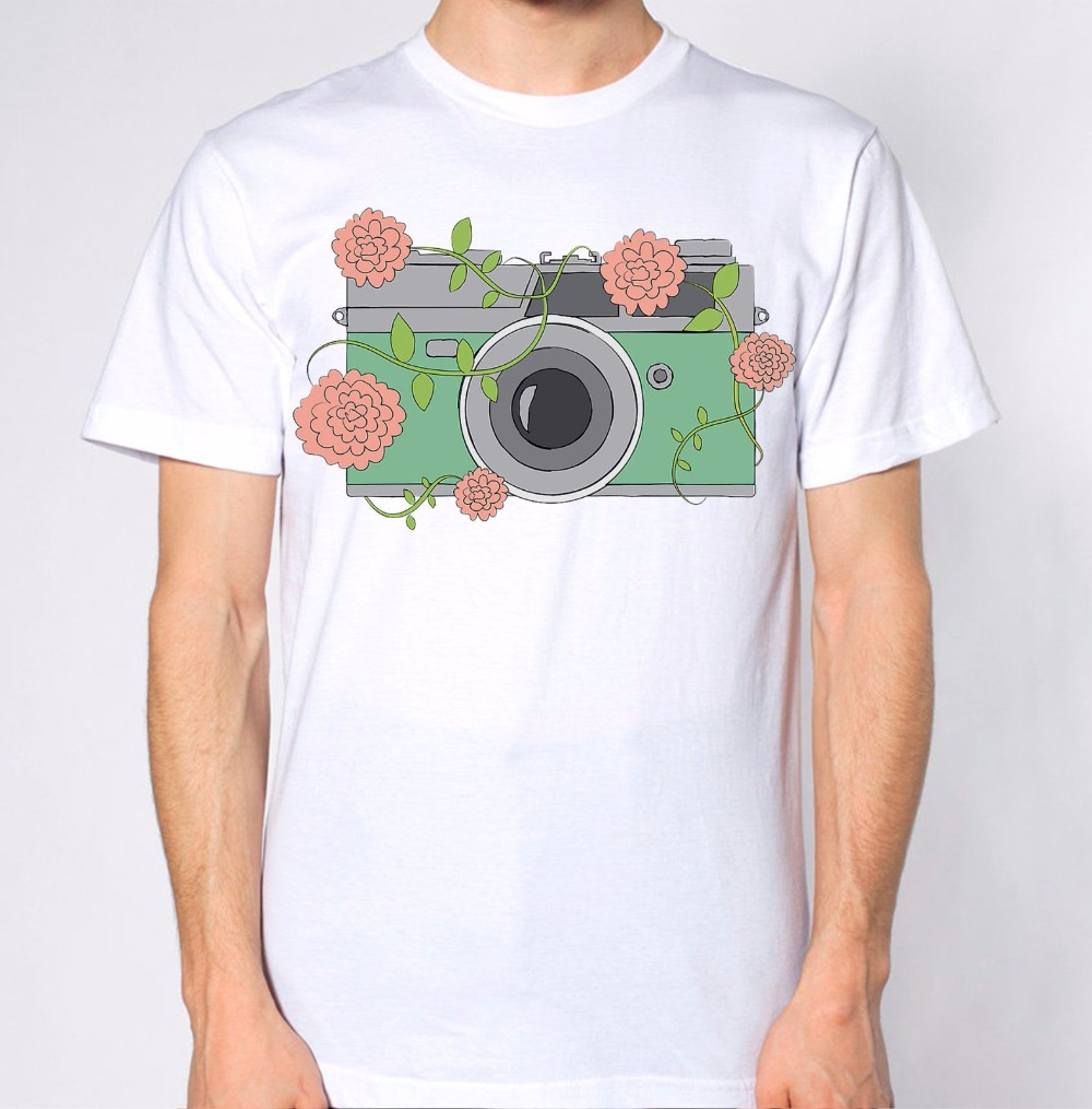 Design t shirt price - Fashion T Shirt Men S High Quality Tops Hipster Tees Camera Photography Map Art Graphic Design Top
