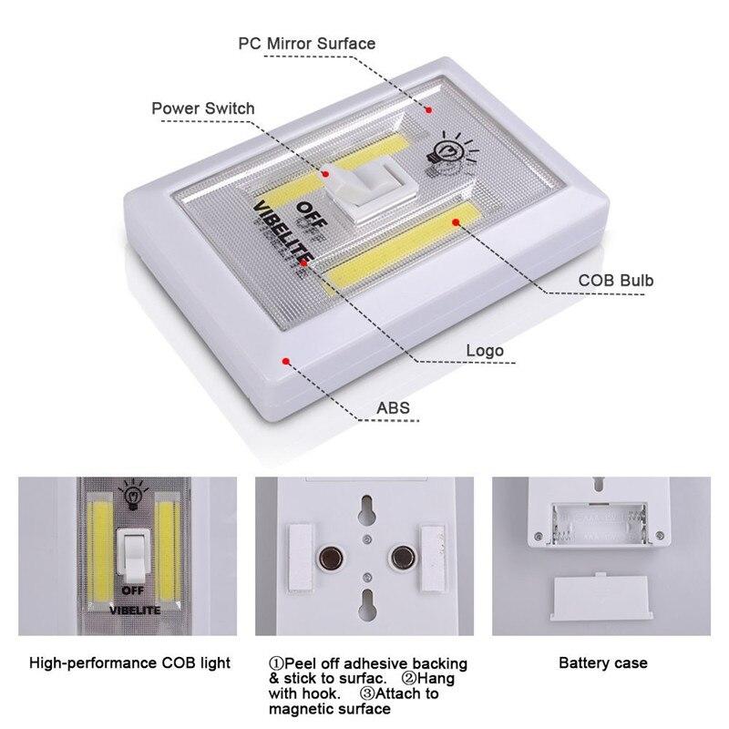 Luzes da Noite 1x cob led interruptor sem Geração de Energia : Mudar