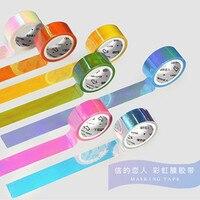 Reflective Rainbow Color Washi Tape Diy Decorative Scrapbooking Masking Tape Adhesive Label Sticker Tape Stationery Office Adhesive Tape