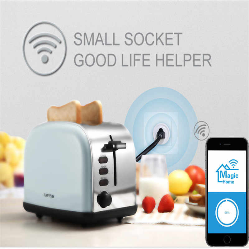 Inteligentna wtyczka 10A automatyki inteligentnego domu wifi gniazdo 110-220 V zdalnego sterowania nas Wifi gniazdo pracy z Alexa i google