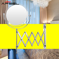AFSEL 7 Polegada Espelho Lados Dobro Espelho de Maquiagem 2X Ampliação Espelho Fixado Na Parede Chrome Espelho Do Banheiro de Dobramento