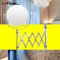 AFSEL 7 Pulgadas Espejo Cosmético Doble Lados 2X Plegable Espejo de Maquillaje Espejo de Aumento Espejo Montado en la pared de Cromo Baño