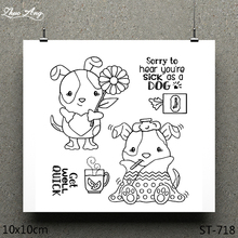 ZhuoAng Lazy Animal Design Clear Stamp / Scrapbook Rubber Craft Card Seamless