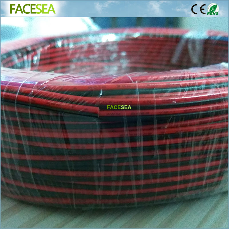 200M/lot 2pin 3pin 4Pin 5pin Extension wire 22 AWG Wire Connector Cable For 3528 5050 LED Strip 5pcs lot 2pin 3pin 4pin 5pin led strip connector for single rgb rgbw color 3528 5050 led strip to wire connection use terminals