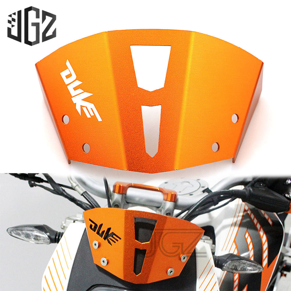 Orange Motorcycle CNC Aluminum Windshield Front Air Reflector Motorbike Accessories For KTM Duke 125 200 390 2013 2014 2015 2016