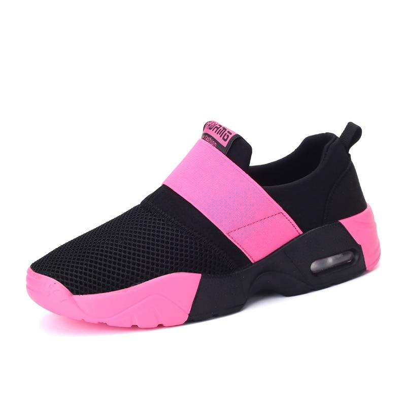 Для женщин Спортивная обувь Лето 2017 г. унисекс для влюбленных Кроссовки Air Подушки спортивные Обувь дышащий Открытый Прогулки Бег Обувь Для женщин