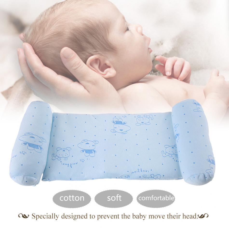 Newborn Baby Infants Comfortable Prevent Flat Head Soft Cotton Cushion Pillow US