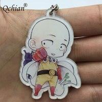 Hot Anime One Punch Man Keychian for Men Saitama Genos tatsumaki cute Key Chains Ring Holder 2