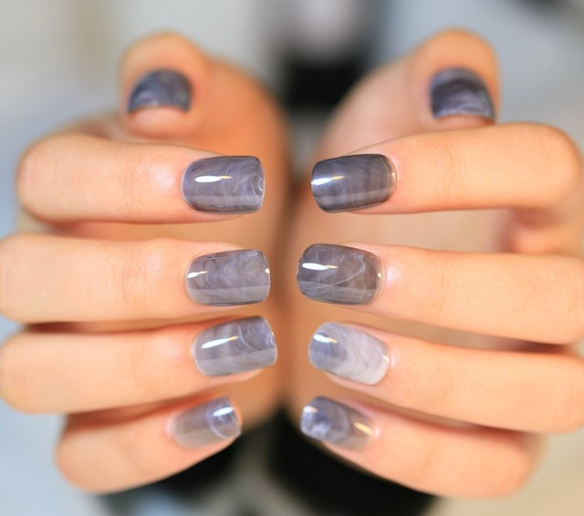 Grey silver cute fake nails art tips pre designed false finger grey silver cute fake nails art tips pre designed false finger nails shiny classical design prinsesfo Gallery