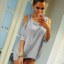 BONJEAN Spring Summer Sexy Women short Sleeve Loose Casual Off Shoulder Tees T shirt Tops Multicolor