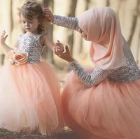 توتو فساتين بنات عيد الفضة الترتر تول الطابق طول الكرة ثوب طفل رضيع زهرة بنات فساتين