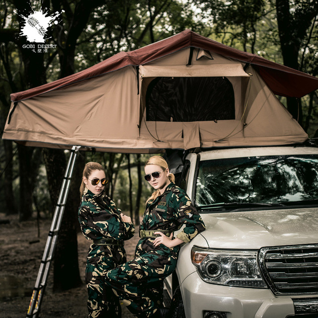 Wnndieo Gobi Tent Tents Extend the Thick Extension of Two People Traveling by Car Proof Tent