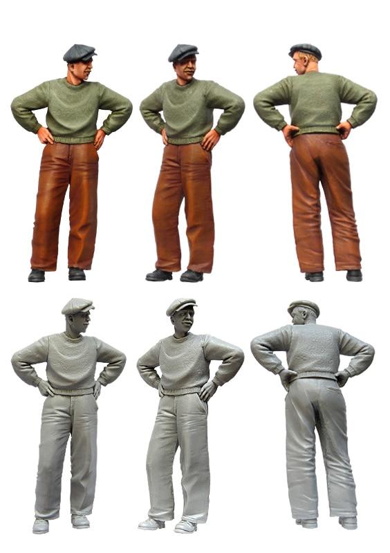 [tuskmodel] 1 35 Scale Resin Model Figures Kit Modern  Civilians
