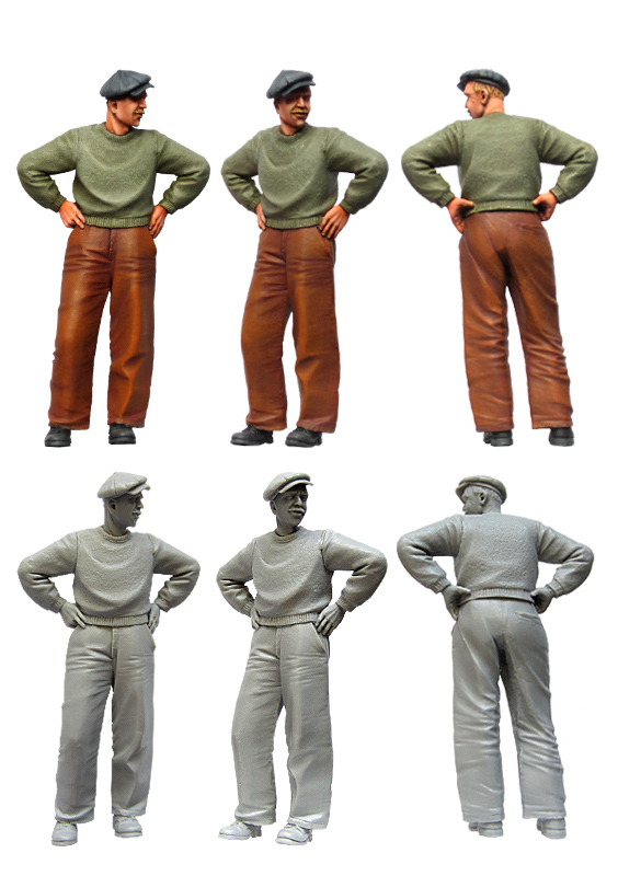 Civil Protection Toys : Tuskmodel scale resin model figures kit modern