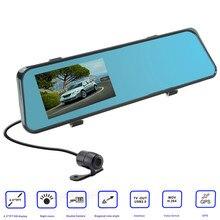 "1080P 4.3"" 170 Degree dash camera parking car dvrs Rearview mirror video recorder Car DVR Dual Camera GPS Dual Cameras"