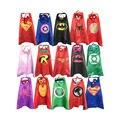 Супергероя накидки с маски для детей день рождения-день рождения праздничные атрибуты вечере