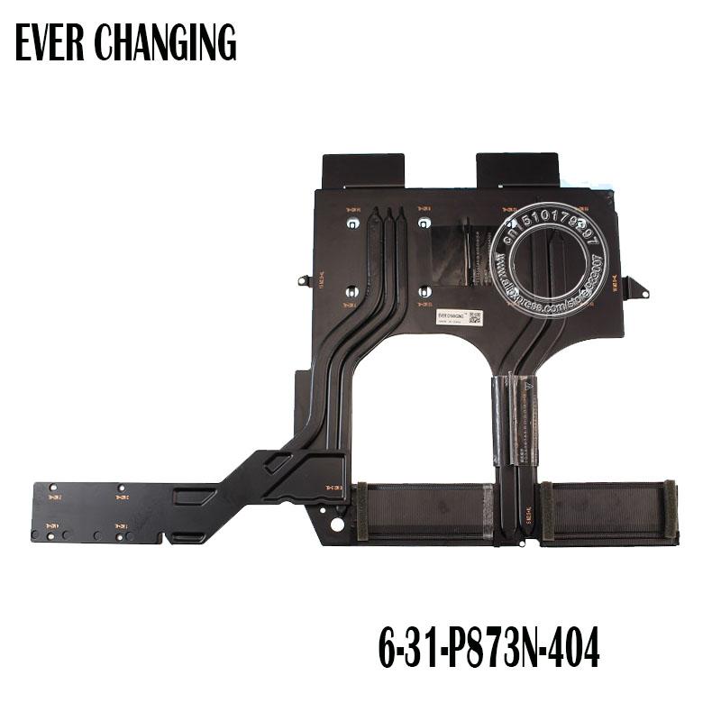 US $71 25 5% OFF|Laptop/Notebook CPU/GPU Cooling average radiator heatsink  for Clevo P870 P870N P870DM3 G P873 6 31 P873N 404 6 31 P873N 102-in Fans &