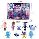 9pcs/set Junior Vampirina Dolls Figure Toys The Vamp Batwoman Girl PVC Models Anime Toys For Children Kids Birthday Party