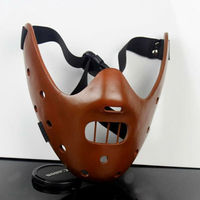 The Silence Of The Lambs Halloween Resin Masks Steel Teeth Hannibal Theme Party Half Face Mask