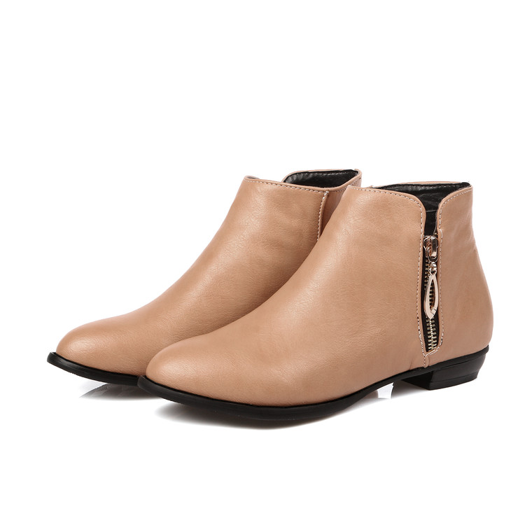 Big size 34-45 New Round Toe Buckle Boots for Women Sexy Ankle Boots Fashion warm Winter Spring Autumn Casual Shoes C104 2018 new arrival microfiber round toe buckle solid fashion winter boots superstar warm thick heel handmade women ankle boots l01