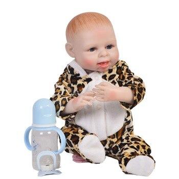 18inch 45cm Lifelike Silicone Reborn Baby simulation bebe bathe Dolls Full Vinyl body mini collectible Truly Kids Playmates toys
