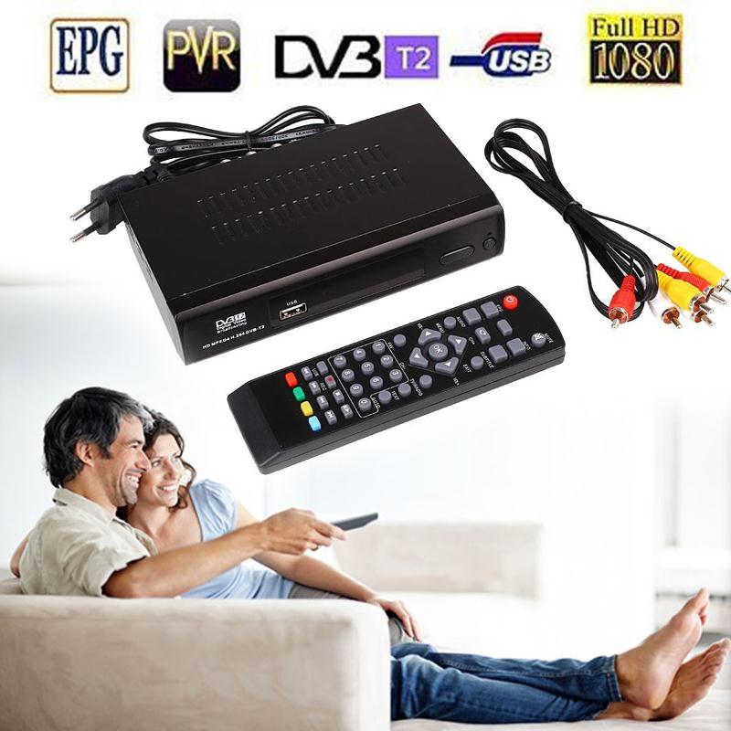 HD 1080P Video Audio Broadcasting TV Box Receiver DVB-T2 Signal Remote Durable ...