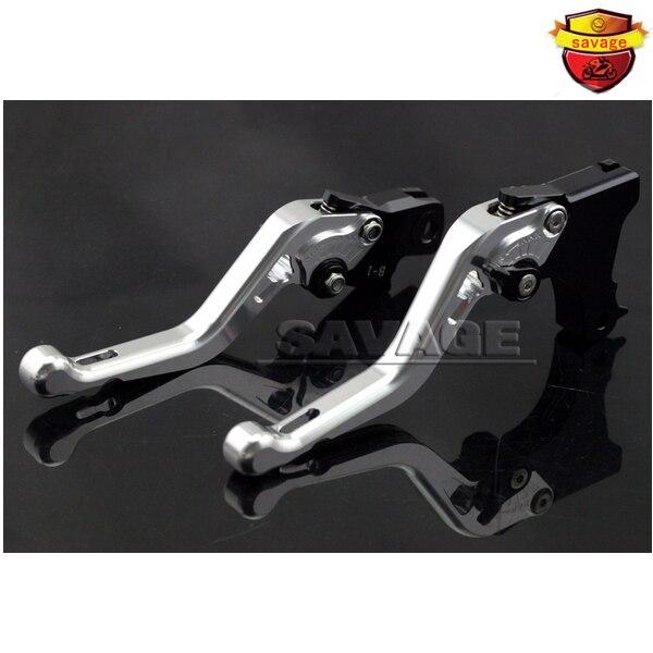 For BMW F650GS F700GS F800GS F800 R/GT/ST Silver Motorcycle Adjustable CNC Short Brake Clutch Levers adjustable billet short folding brake clutch levers for bmw f 650 700 800 gs f650gs f700gs f850gs 08 15 09 10 f 800 r s st 06 15