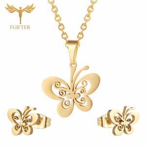 FGifter Gold Butterfly Stud Ea