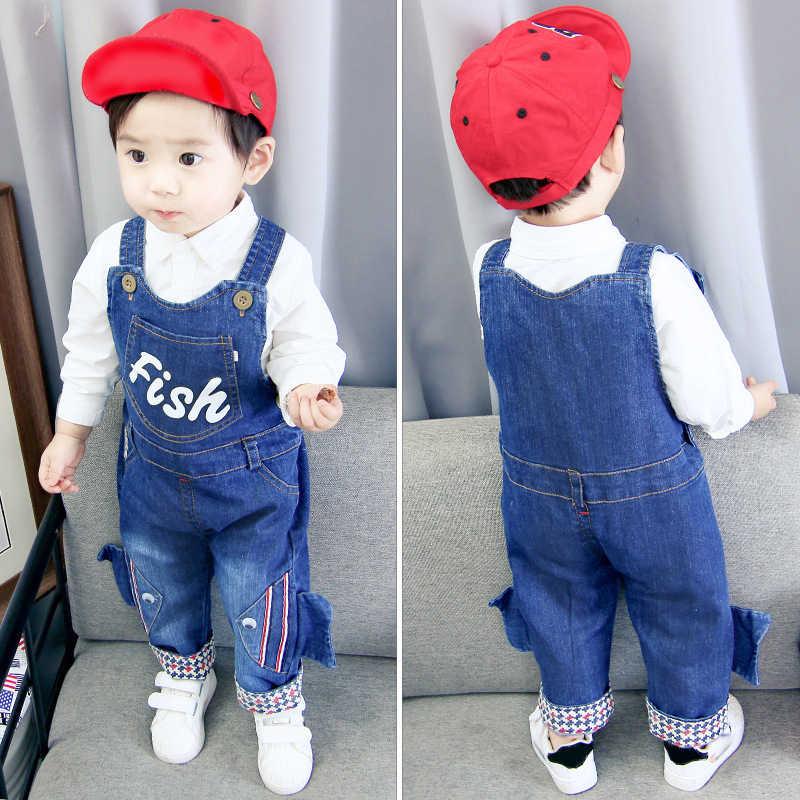Ienens Toddler Infant Boys Long Pants Denim Overalls Dungarees Kids Baby Boy Jeans Jumpsuit Clothes Clothing Playsuit Trousers