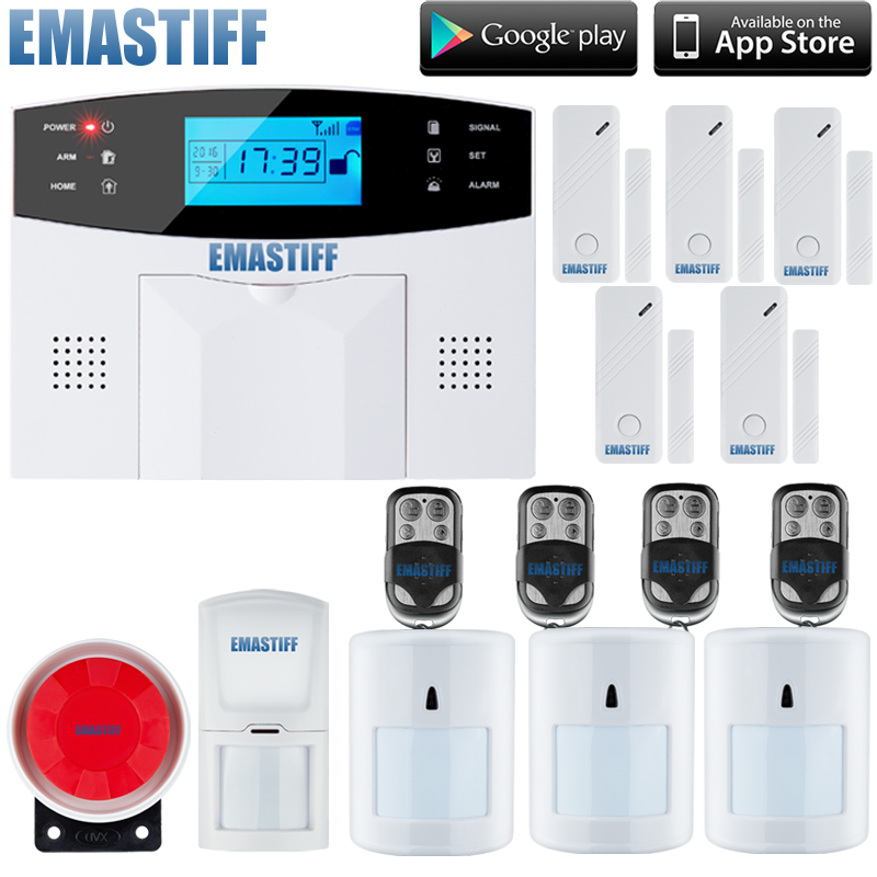 2015 New Wireless GSM Alarm System Home Security System With Remote Control Voice Prompt+3pcs pet immune motion pir sensor free shipping 99 wireless zone and 2 wired quad band lcd home security pstn gsm alarm system 3 pet immune pirs 5 new door sensor