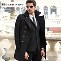 S-3XL large size men wool coat long coat woolen coat erkek mont cappotto abrigo hombre peacoat winter coat