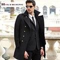 S-3XL tamanho grande casaco de lã homens casaco longo casaco de lã erkek mont cappotto abrigo hombre casaco peacoat inverno