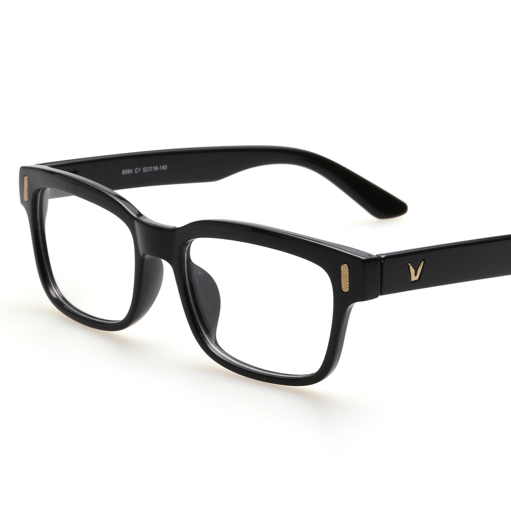 Retro rektangulære briller Optiske rammer Clear Lens Black Glasses Leopard Square Eyewear Spectacle Frames For Women Men