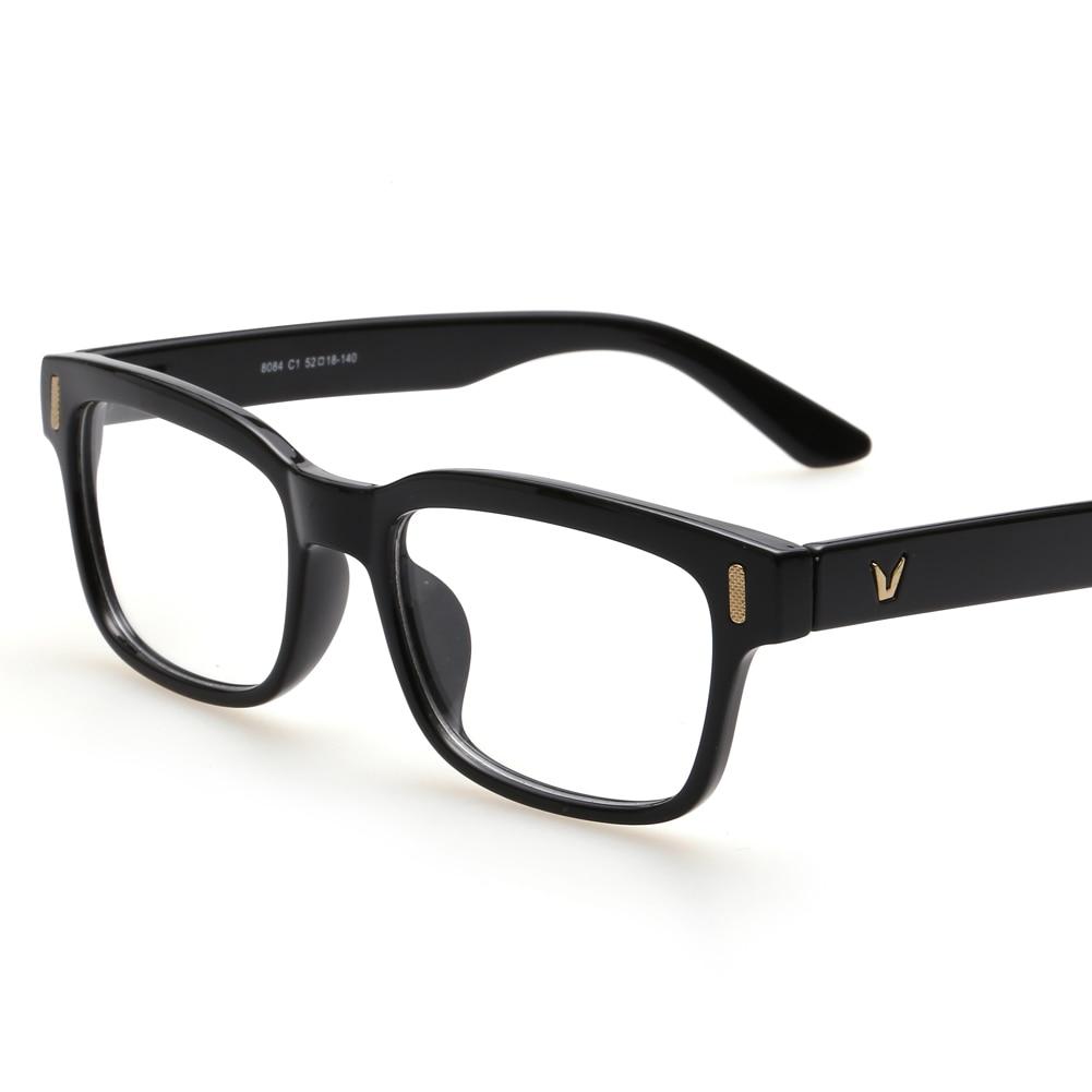 Retro rectángulo gafas óptico marcos claro lente negro gafas ...