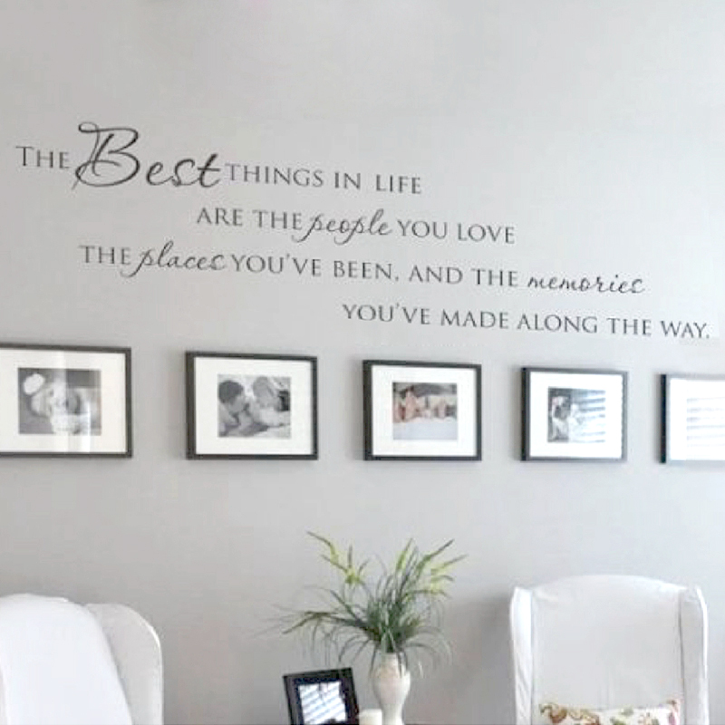 The Best Things In Life Vinyl wall decals ~ Cinta Kenangan Dinding Quote Home Art Vinyl Decal Sticker, Free shipping size large new