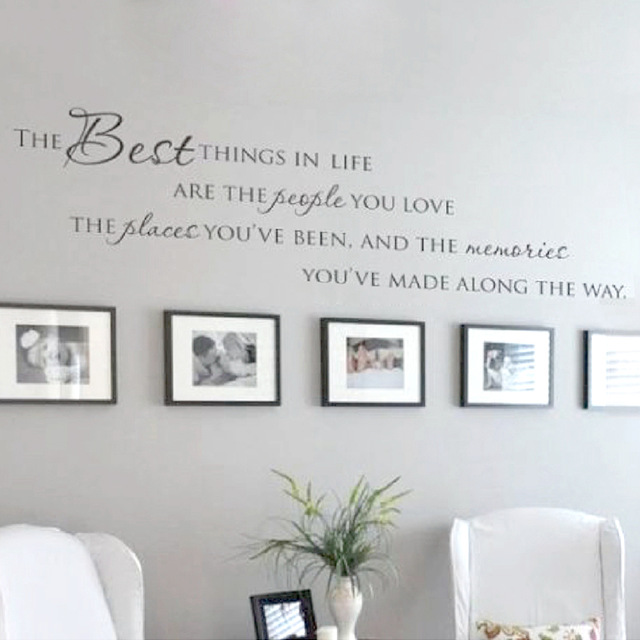 The Best Things In Life Vinyl Wall Decals ~ Love Memories Wall Quote Home Art  Vinyl