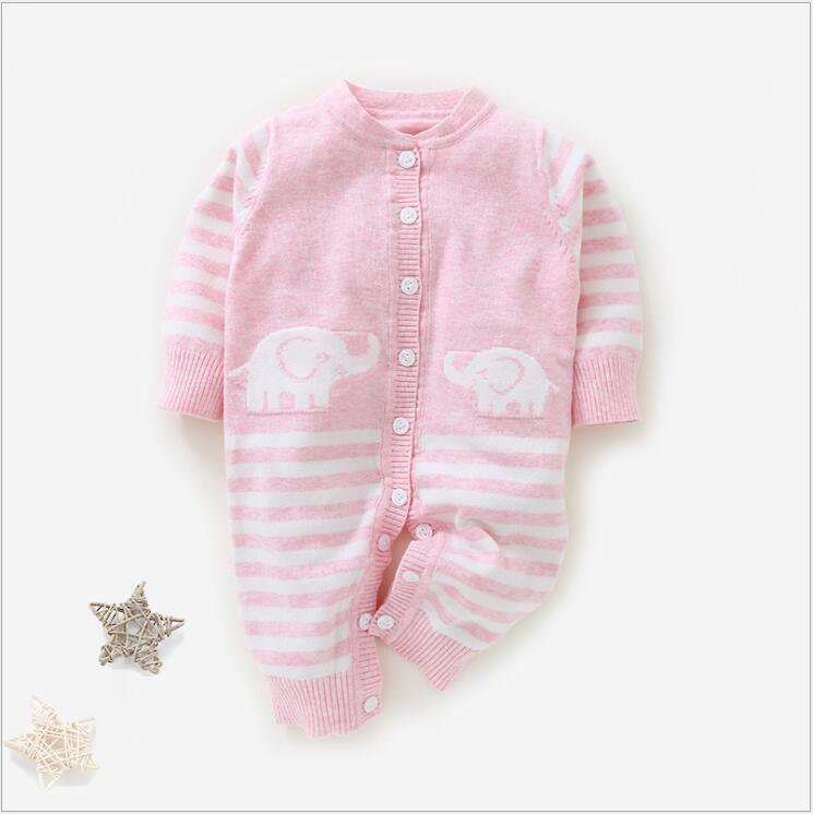 315eaf44a Knitted Cardigan Sweater Romper 0 12M Infant Boy Girl Cotton Button ...