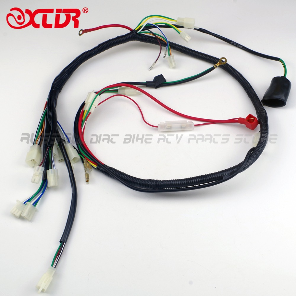 compare prices on complete wiring harness online shopping buy low engine wiring harness wire loom for gy6 125cc 150cc quad bike atv buggy atomik round 6pin