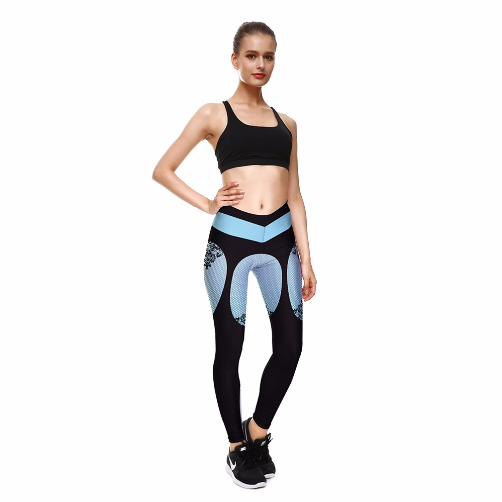 9828d9c9f32cc Summer Spain new hot personality stitching printing hip Slim fitness women  leggings-in Leggings from Women's Clothing on Aliexpress.com | Alibaba Group
