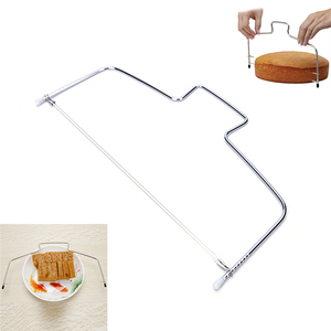 Image 4 - 10 Inch Cake Slicing Knife DIY Stainless Steel Double Line Adjustable Butter Butter Bread Cake Cutter Home Kitchen Baking Tools