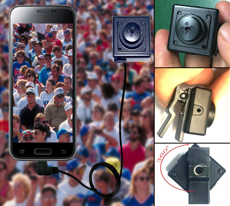 HD 3 megapixel Wearable Camera With Adjustable Clip For Android Devices (Micro-USB or Type-C)