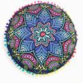 Nuevo Diseño Indio Mandala Cojín Caso de la Cubierta de Almohadas Cojines decorativos Almohadas Piso Ronda Bohemio Cojines Almofada