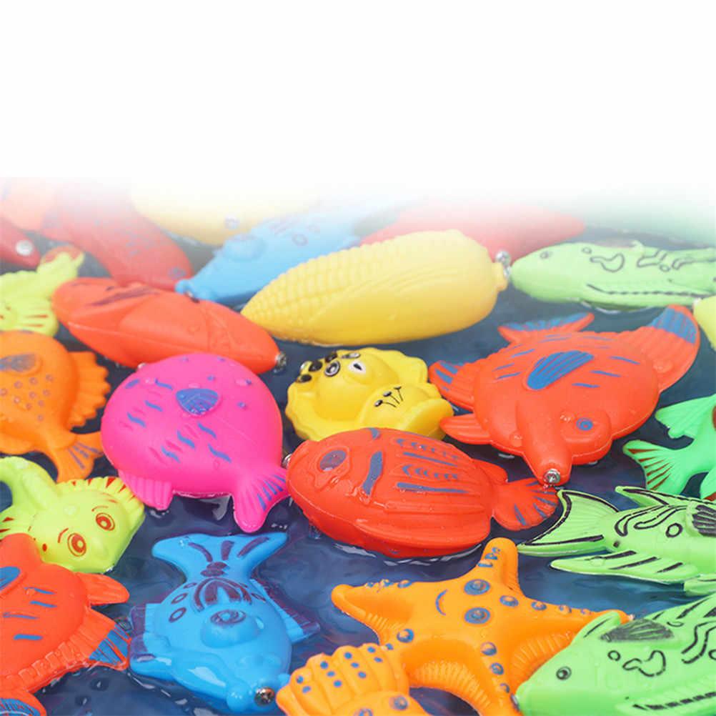 18 Uds Set de juguetes de baño doble Polo magnetismo de pesca de 2019 de juguete los niños inteligencia educativa agua suministros 42*28cm