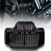Free Shipping Black Stock Oil Cooler Cover For Harley Road Kings Road Glides Street Glides 2011 2015