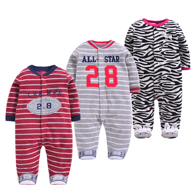 625fb63898ef Newborn Baby Rompers Autumn Winter Cartoon Girls Clothing Warm Colar Fleece  Clothes Boys Foot Overalls Unisex Infant Jumpsuits